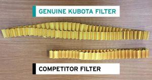 Kubota filter versus competitor
