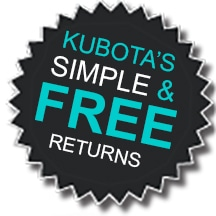 Kubotas simple and free returns