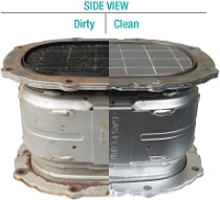kubota filter befor and after